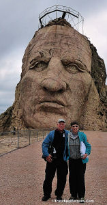 Phyllis and Larry on Crazy Horse Memorial