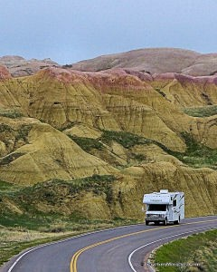 Yellow Mounds area of Badlands NP in SD